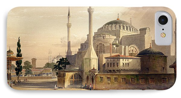 Haghia Sophia, Plate 17 Exterior View Phone Case by Gaspard Fossati
