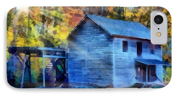 Hagood Mill With Sunrays Phone Case by Lynne Jenkins