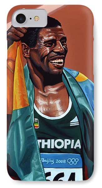 Haile Gebrselassie IPhone 7 Case by Paul Meijering