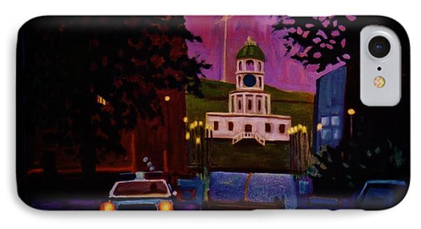 Halifax Night Patrol And Town Clock Phone Case by John Malone