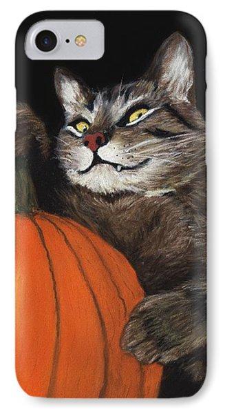 Halloween Cat IPhone 7 Case by Anastasiya Malakhova