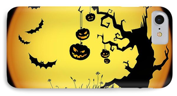 Halloween Haunted Tree IPhone Case by Gianfranco Weiss