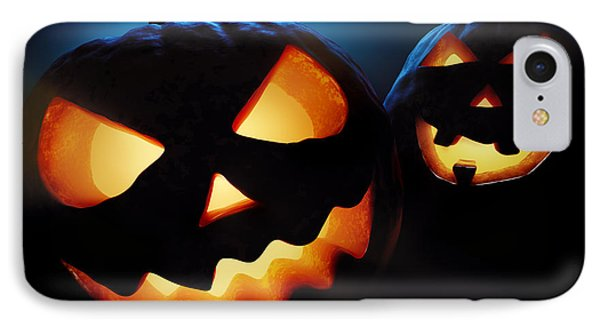 Halloween Pumpkins Closeup -  Jack O'lantern IPhone Case by Johan Swanepoel