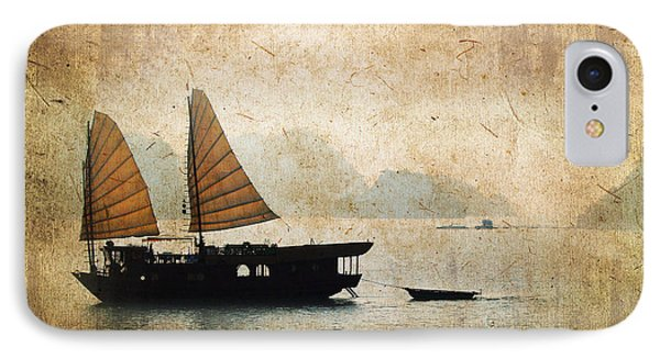 Halong Bay Vintage IPhone Case by Delphimages Photo Creations