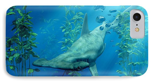 Hammerhead Art Phone Case by Daniel Eskridge