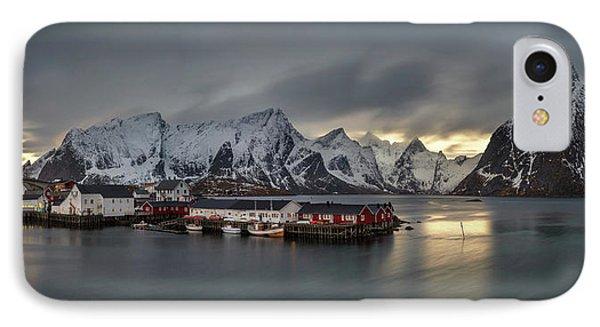Hamnoy Village On Lofoten, Nordland IPhone Case by Panoramic Images
