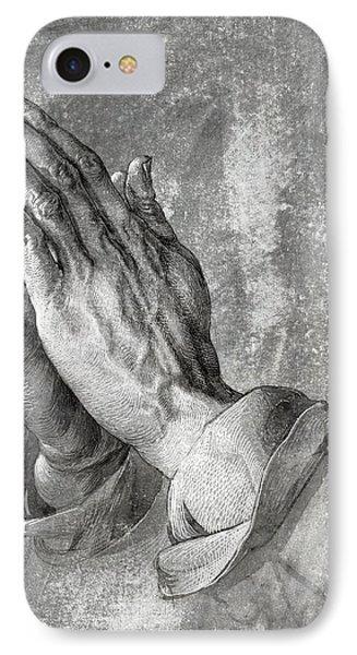 Hands Of Prayer  1508 IPhone Case by Daniel Hagerman