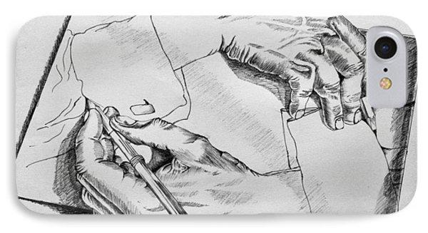 Hands IPhone Case by Sumit Jain