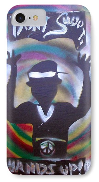 Hands Up Don't Shoot Peaced Out IPhone Case by Tony B Conscious
