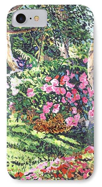 Hanging Flower Basket IPhone Case by David Lloyd Glover