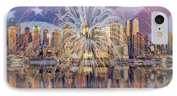 Happy Birthday America IPhone Case by Susan Candelario