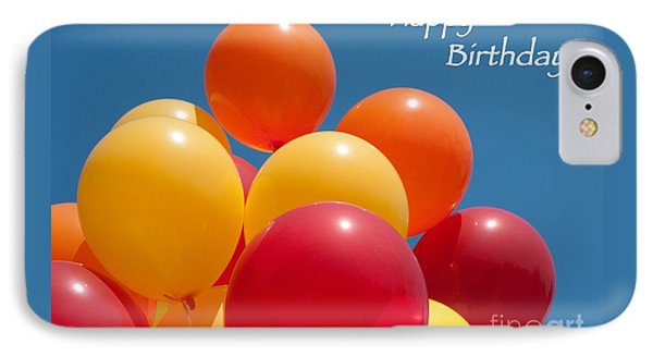 Happy Birthday Balloons Phone Case by Ann Horn