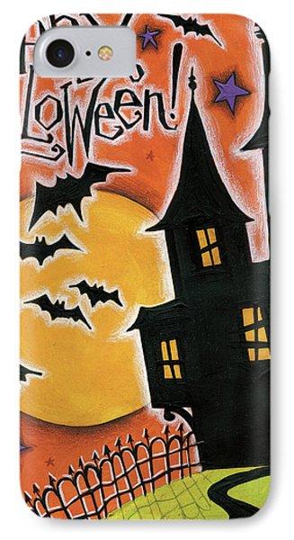 Happy Halloween IPhone Case by Anne Tavoletti
