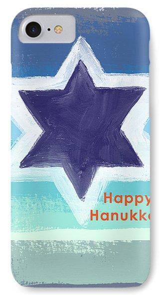 Happy Hanukkah Card IPhone Case by Linda Woods