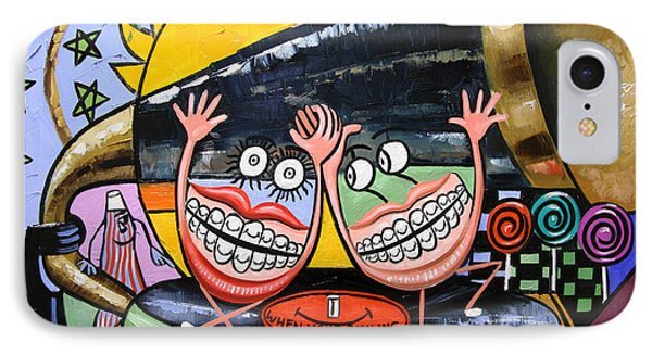 Happy Teeth When Your Smiling Phone Case by Anthony Falbo