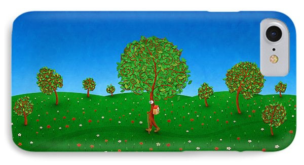 Happy Walking Tree IPhone Case by Gianfranco Weiss
