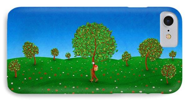 Happy Walking Tree Phone Case by Gianfranco Weiss
