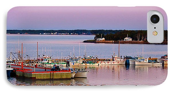 Harbour Sunset Phone Case by Ron Haist