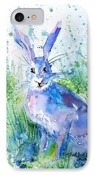 Hare Stare IPhone Case by Trudi Doyle