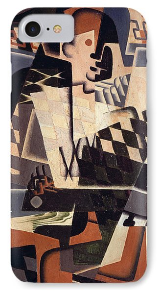 Harlequin With A Guitar, 1917 Oil On Canvas IPhone Case by Juan Gris