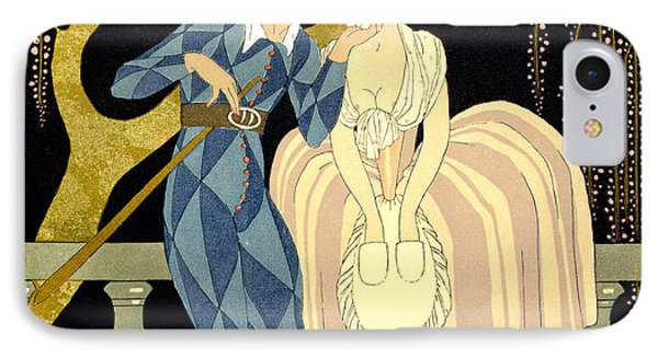 Harlequin's Kiss IPhone Case by Georges Barbier