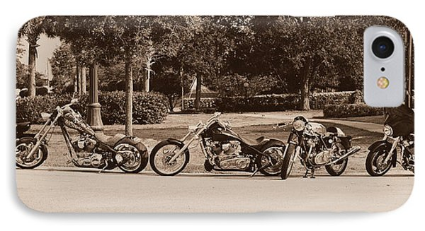 Harley Line Up IPhone Case by Laura Fasulo