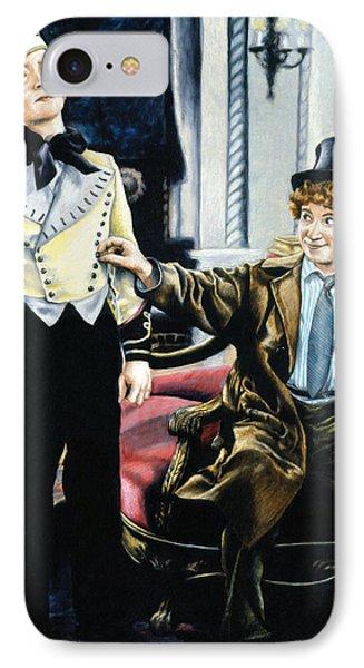 Harpo In The Cocoanuts IPhone Case by Edward Draganski