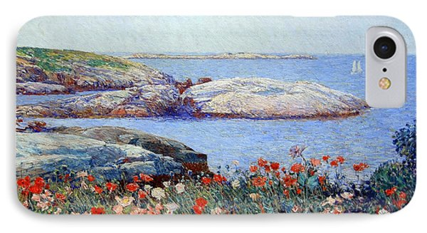 Hassam's Poppies On The Isles Of Shoals IPhone Case by Cora Wandel