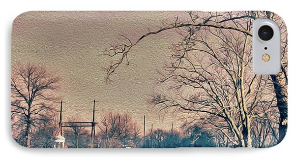 Haunted Trees  IPhone Case by Tom Gari Gallery-Three-Photography