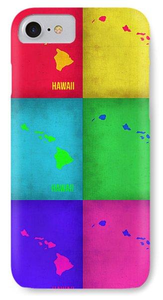Hawaii Pop Art Map 1 IPhone Case by Naxart Studio
