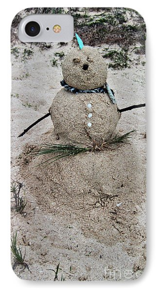 Hawaiian Snowman IPhone Case by Cheryl Young