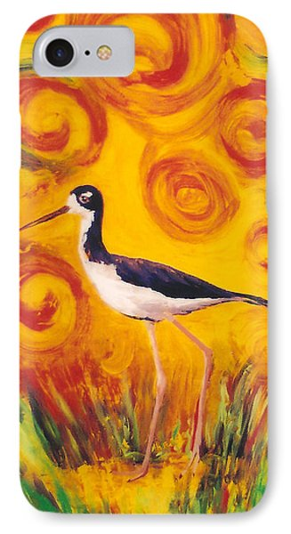 Hawaiian Stilt Sunset Phone Case by Anna Skaradzinska