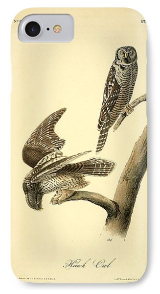 Hawk Owl  IPhone Case by Philip Ralley