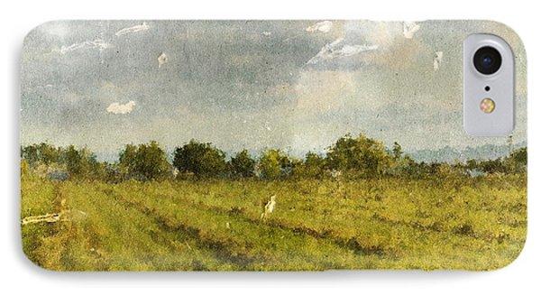 Hay Fields In September IPhone Case by Brett Pfister