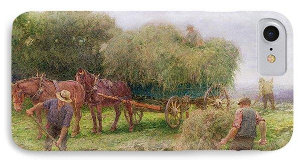 Haymaking Phone Case by Arthur Hopkins