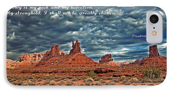 He Only Is My Rock IPhone Case by Robert Bales