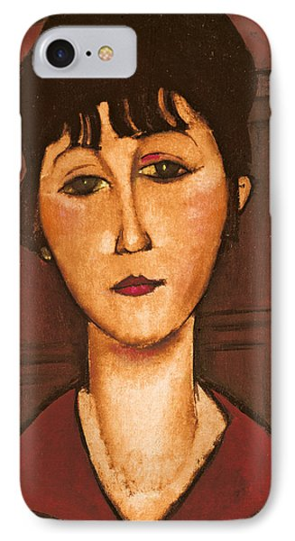 Head Of A Girl Phone Case by Amedeo Modigliani