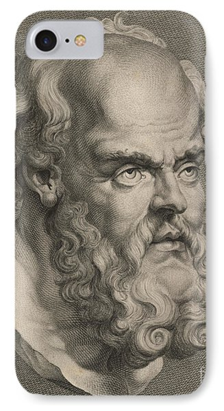 Head Of Socrates IPhone Case by Anonymous