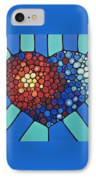 Heart Art - Love Conquers All 2  Phone Case by Sharon Cummings