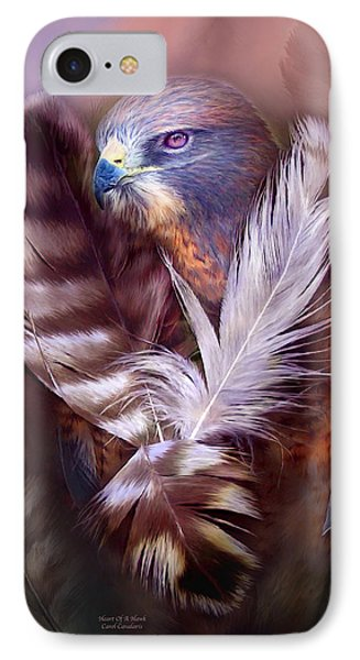 Heart Of A Hawk IPhone 7 Case by Carol Cavalaris