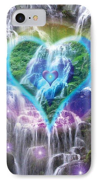 Heart Of Waterfalls Phone Case by Alixandra Mullins