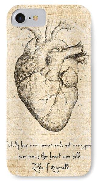 Heart Quote By Zelda Fitzgerald IPhone Case by Taylan Apukovska