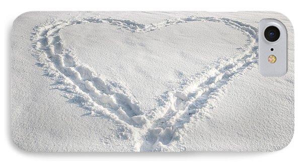 Heart Shape In Snow IPhone Case by Elena Elisseeva