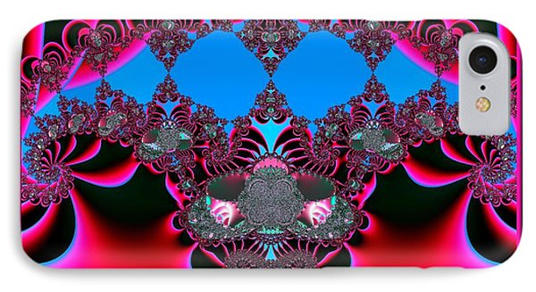Hearts Ballet Curtain Call Fractal 121 Phone Case by Rose Santuci-Sofranko