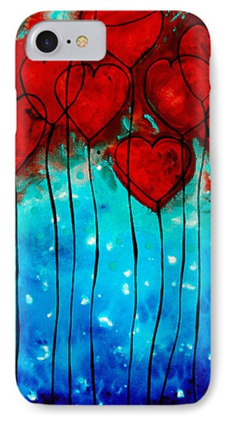 Hearts On Fire - Romantic Art By Sharon Cummings IPhone Case by Sharon Cummings