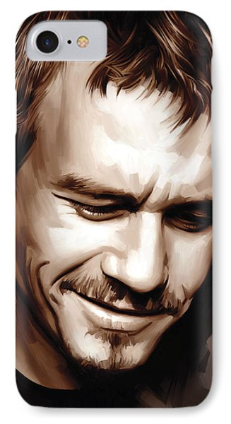 Heath Ledger Artwork IPhone Case by Sheraz A