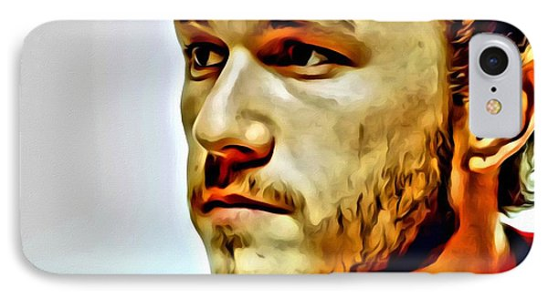 Heath Ledger Portrait IPhone Case by Florian Rodarte