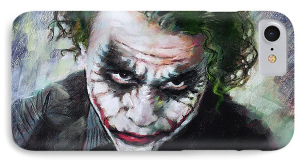 Heath Ledger The Dark Knight IPhone Case by Viola El
