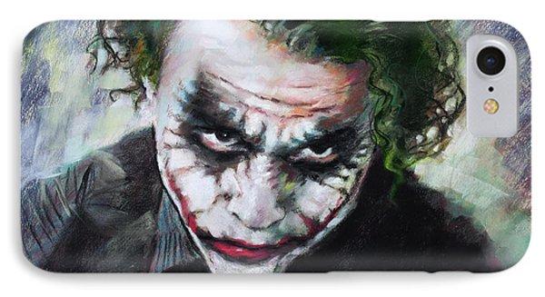Heath Ledger The Dark Knight IPhone 7 Case by Viola El