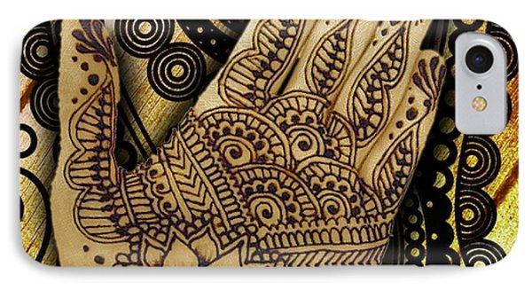 Henna Indian Beauty 1 IPhone Case by Tony Rubino